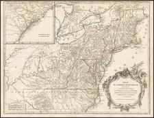 New England, Mid-Atlantic and Southeast Map By Didier Robert de Vaugondy