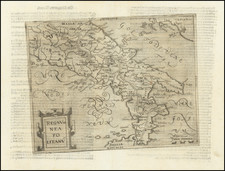 Southern Italy Map By Johannes Matalius Metellus