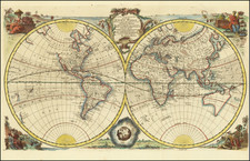 World and Australia Map By Emanuel Bowen