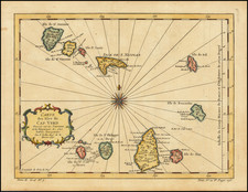 West Africa and African Islands, including Madagascar Map By Jacques Nicolas Bellin