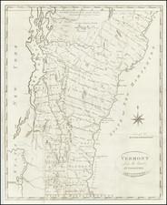 Vermont Map By John Reid