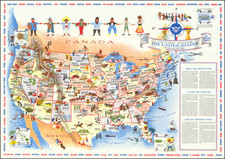 United States Map By Mary Ronin