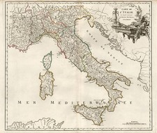 Europe, Switzerland, France, Italy and Balearic Islands Map By Gilles Robert de Vaugondy / Delamarche
