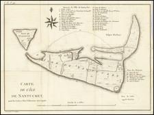Massachusetts Map By Pierre Antoine Tardieu