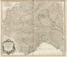 Europe, Switzerland, France and Italy Map By Gilles Robert de Vaugondy / Delamarche