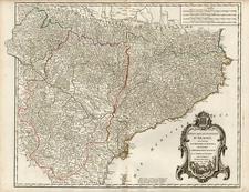 Europe and Spain Map By Gilles Robert de Vaugondy / Delamarche