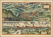 Other Italian Cities and Süddeutschland Map By Georg Braun  &  Frans Hogenberg