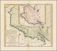 Southwest, Alaska and California Map By Denis Diderot / Didier Robert de Vaugondy