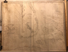 Florida and Bahamas Map By Edmund M. Blunt