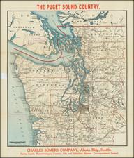 Washington Map By The Clason Map Company