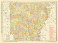 Arkansas Map By Rand McNally & Company