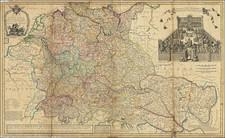 Netherlands, Switzerland, Austria, Hungary, Romania, Czech Republic & Slovakia, Balkans and Germany Map By Herman Moll