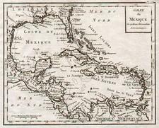 South, Southeast, Caribbean and Central America Map By Joseph De La Porte