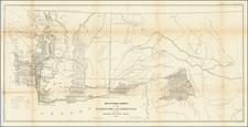 Idaho, Montana and Washington Map By U.S. General Land Office