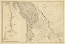 Idaho, Montana, Wyoming, Oregon, Washington, California and Canada Map By Charles Wilkes
