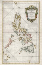 Asia, Southeast Asia and Philippines Map By Jacques Nicolas Bellin