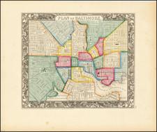 Plan of  Baltimore By Samuel Augustus Mitchell Jr.