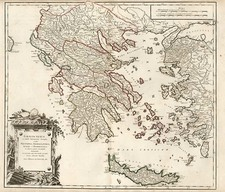 Europe, Greece, Balearic Islands, Asia and Turkey & Asia Minor Map By Didier Robert de Vaugondy