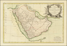 Middle East and Arabian Peninsula Map By Jean Lattré
