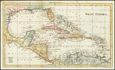 Caribbean Map By John Walker