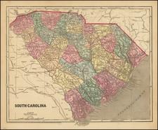 South Carolina Map By Charles Morse