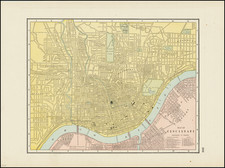 Ohio Map By George F. Cram