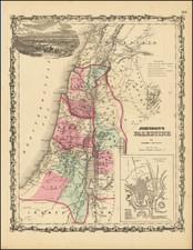 Holy Land Map By Alvin Jewett Johnson  &  Benjamin P Ward