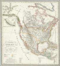 North America Map By Carl Ferdinand Weiland