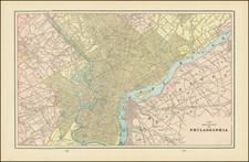Philadelphia Map By George F. Cram