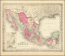 Mexico Map By G.W.  & C.B. Colton