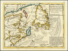 Eastern Canada Map By Herman Moll