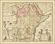 Africa and East Africa Map By Valk & Schenk