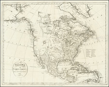 A General Map of North America Drawn From The Best Surveys . . . 1795 By John Reid