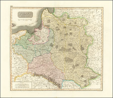Poland, Baltic Countries and Germany Map By John Thomson