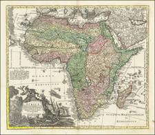 Africa Map By Matthaus Seutter