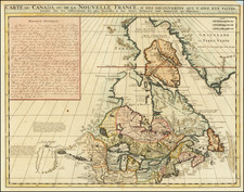 Midwest, Canada and Western Canada Map By Henri Chatelain