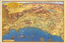 Pictorial Maps and California Map By Roads To Romance Inc.