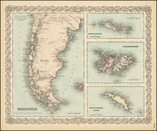 Argentina and Chile Map By G.W.  & C.B. Colton