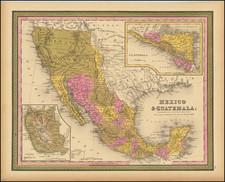 Texas, Arizona, Colorado, Utah, Nevada, New Mexico, Colorado, Utah, Mexico and California Map By Samuel Augustus Mitchell