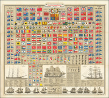 World and Curiosities Map By George Philip & Son