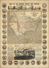 United States, Texas, Oregon and California Map By H. A. Munson & Co.