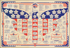 United States and Curiosities Map By Ernest Dudley Chase