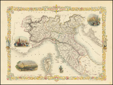 Italy, Northern Italy and Balearic Islands Map By John Tallis