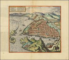 Sud et Alpes Française Map By Georg Braun  &  Frans Hogenberg