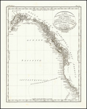 Alaska, California and British Columbia Map By George Vancouver
