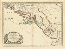Croatia & Slovenia and Bosnia & Herzegovina Map By Nicolas Sanson / Pierre Mariette