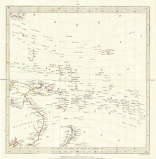 Australia & Oceania, Oceania, New Zealand, Hawaii and Other Pacific Islands Map By SDUK