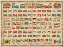 World and Curiosities Map By Alvin Jewett Johnson  &  Benjamin P Ward