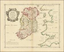 Ireland Map By Pierre Mariette