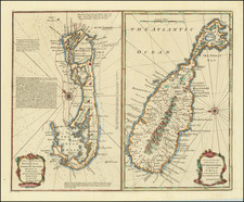 Bermuda and Other Islands Map By Emanuel Bowen